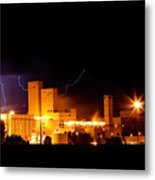Budwesier Brewery Lightning Thunderstorm Image 3918 Metal Print by James BO  Insogna