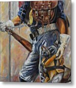 Buffalo Soldier Outfitted Metal Print by Harvie Brown