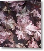 Burgandy Leaves After The Rain Metal Print by Anna Villarreal Garbis