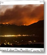 Burning Foothills Above Boulder Fourmile Wildfire Panorama Poster Metal Print by James BO  Insogna