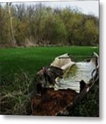 Burnt Out Boat Metal Print by Anna Villarreal Garbis