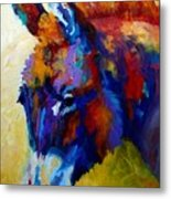 Burro II Metal Print by Marion Rose