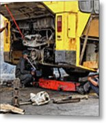 Bus Repairs Metal Print by Dawn Currie
