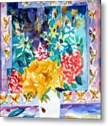 Butterfly Bouquet Metal Print by Mindy Newman