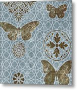 Butterfly Deco 1 Metal Print by JQ Licensing