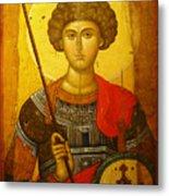 Byzantine Knight Metal Print by Ellen Henneke