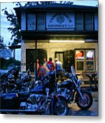 Cabbage Patch Bikers Bar Metal Print by Kristin Elmquist