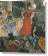 Cafe Concert At Les Ambassadeurs Metal Print by Edgar Degas