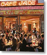 Cafe Jade Metal Print by Guido Borelli