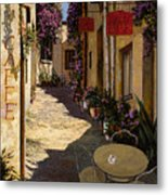 Cafe Piccolo Metal Print by Guido Borelli