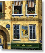 Cafe Van Gogh Paris Metal Print by Marilyn Dunlap