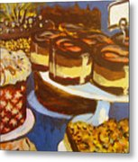 Cake Case Metal Print by Tilly Strauss