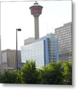 Calgary Tower View 2 Metal Print by Donna Munro