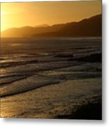 California Coast Sunset Metal Print by Balanced Art