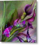 Calla Lilies Metal Print by Carol Cavalaris