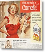 Camel Cigarette Ad, 1951 Metal Print by Granger