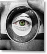 Camera Face Metal Print by Semmick Photo