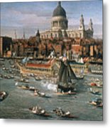 Canaletto: Thames, 18th C Metal Print by Granger