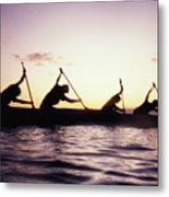 Canoe Race Metal Print by Bob Abraham - Printscapes
