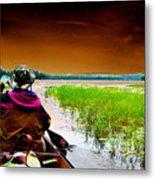 Canoe Trip Metal Print by Peter  McIntosh