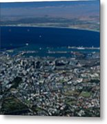 Capetown South Africa Aerial Metal Print by Sandra Bronstein