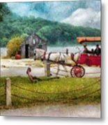 Car - Wagon - Traveling In Style Metal Print by Mike Savad