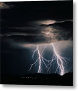 Carefree Lightning Metal Print by Cathy Franklin
