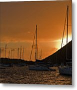 Caribbean Dawn Metal Print by Louise Heusinkveld