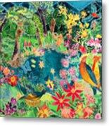 Caribbean Jungle Metal Print by Hilary Simon