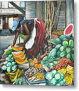 Caribbean Market Day Metal Print by Karin  Dawn Kelshall- Best