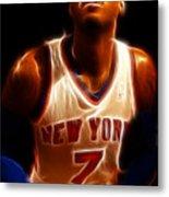 Carmelo Anthony - New York Nicks - Basketball - Mello Metal Print by Lee Dos Santos