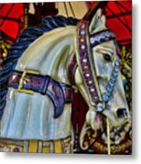 Carousel Horse - 7 Metal Print by Paul Ward