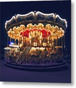 Carousel In Paris Metal Print by Elena Elisseeva