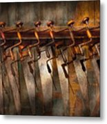 Carpenter  - Saws And Braces  Metal Print by Mike Savad