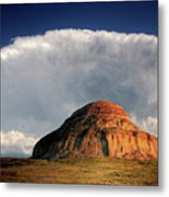 Castle Butte In Big Muddy Valley Of Saskatchewan Metal Print by Mark Duffy