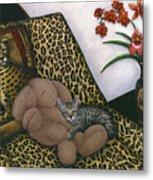 Cat Cheetah's Bed Metal Print by Carol Wilson