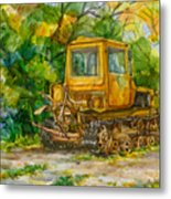Caterpillar On Backyard Metal Print by Natoly Art