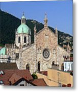 Cathedral Of Como Metal Print by Lia Attelram