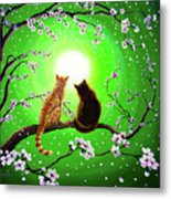 Cats On A Spring Night Metal Print by Laura Iverson