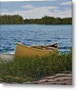 Cedar Canoe Metal Print by Kenneth M  Kirsch