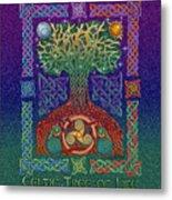 Celtic Tree Of Life Metal Print by Kristen Fox