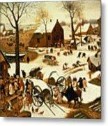 Census At Bethlehem Metal Print by Pieter the Elder Bruegel