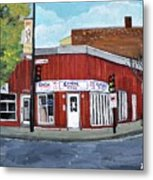 Centre Pizza Verdun Metal Print by Reb Frost