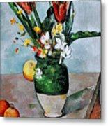 Cezanne: Tulips, 1890-92 Metal Print by Granger