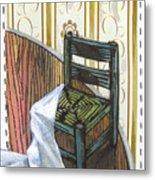 Chair Iv Metal Print by Peter Allan