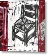 Chair V Metal Print by Peter Allan