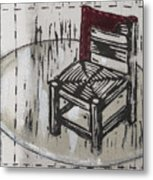 Chair Vii Metal Print by Peter Allan