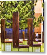 Chairs At The Gate Metal Print by Ricky Barnard