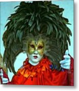 Character In Venice Metal Print by Michael Henderson