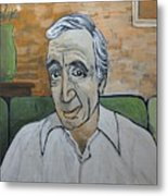 Charles Aznavour Metal Print by Reb Frost